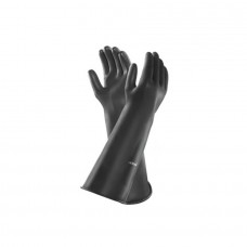 Ansell Emperor Large 610mm Black Rubber Gloves Pair - F9888