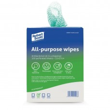 All-Purpose Antibacterial Cleaning Cloths Green (200 Pack) Ref: DF160