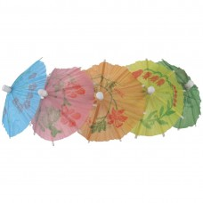 Paper Parasols Mixed Colours (Pack of 144), Ref: CL443