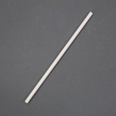 Biodegradable Paper Straws White (Pack of 250), Ref: DF886