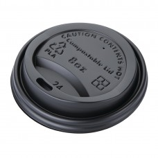 Fiesta Green Compostable Coffee Cup Lids 225ml / 8oz (Pack of 1000), Ref: DS052