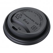 Fiesta Green Compostable Coffee Cup Lids 225ml / 8oz (Pack of 50), Ref: DS054