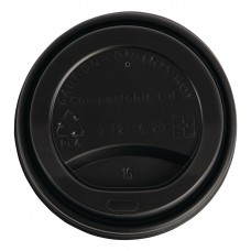 Fiesta Green Compostable Coffee Cup Lids 340ml / 12oz (Pack of 50), Ref: DS055