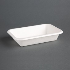 Fiesta Green Compostable Bagasse Food Trays 16oz (Pack of 50), Ref: DW347