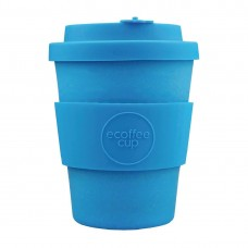 Ecoffee Cup Bamboo Reusable Coffee Cup Toroni Blue 12oz, Ref: DY485