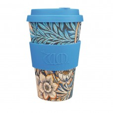 Ecoffee Cup Bamboo Reusable Coffee Cup Lily William Morris 14oz, Ref: DY490