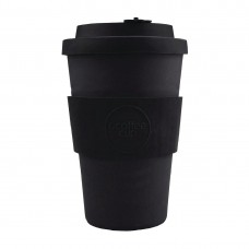 Ecoffee Cup Bamboo Reusable Coffee Cup Kerr & Napier Black 14oz, Ref: DY493