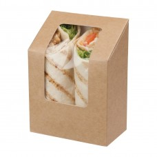 Colpac Zest Compostable Kraft Tuck-Top Wrap Packs With Acetate Window, Ref: FA391