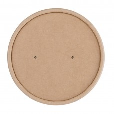 Fiesta Green Biodegradable Paper Soup Container Lids 98mm (Pack of 500), Ref: FB556