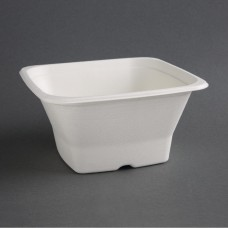 Fiesta Green Compostable Bagasse Square Bowls 40oz (Pack of 50), Ref: FC538