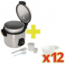 Special Offer Buffalo Rice Cooker with 12x Olympia Bowls, Ref: S139
