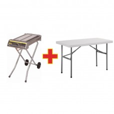 SPECIAL OFFER Buffalo Folding Gas Barbecue And Free Folding Table, Ref: S502