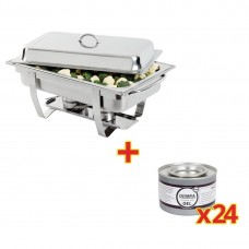Special Offer Milan Chafer Set And 24 Olympia Chafing Gel Fuel Tins, Ref: S600