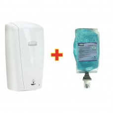 Special Offer Rubbermaid AutoFoam Dispenser and 4 Perfumed Foam Hand Soaps 1.1Ltr, Ref: S813