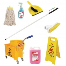Jantex Colour Coded Cleaning Kit Yellow, Ref: SA439