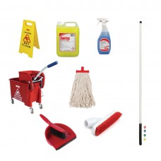 Jantex Colour Coded Cleaning Kit Red, Ref: SA474