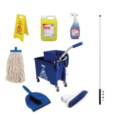 Jantex Colour Coded Cleaning Kit Blue, Ref: SA476